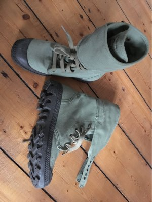Palladium Lace-up Boots anthracite-khaki