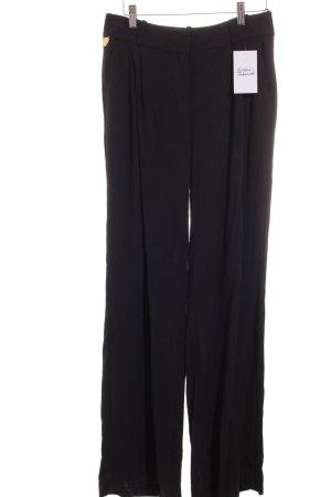 Pantalon palazzo noir style classique