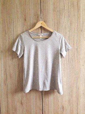 Palmen Shirt grau silber Gr. S