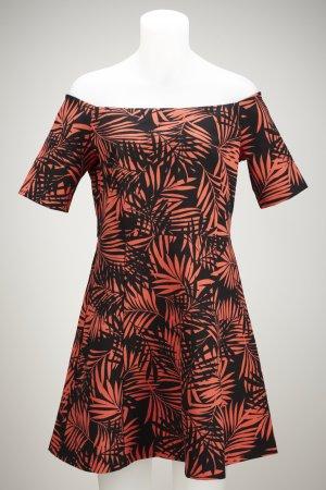 Palmenprint Kleid Off-Shoulder