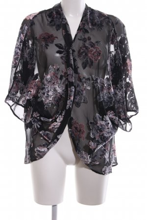Palmers Cardigan schwarz-lila Elegant