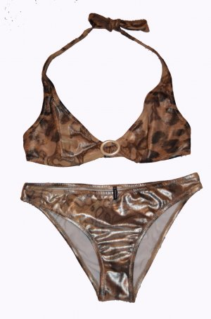 Palmers Designer Bikini Gold / Leo Muster