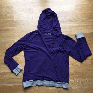 Palmers Loungewear Homewear Sweatshirt lila grau Gr 40-42