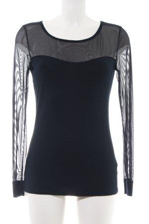 Palmers Netshirt zwart casual uitstraling