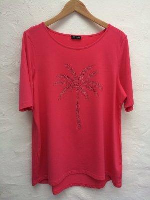 *Palmtree* Pinkes Longshirt, Gr. 46, Glanzsteine