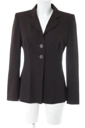 Palto Kurz-Blazer braun-hellgrau Streifenmuster Business-Look