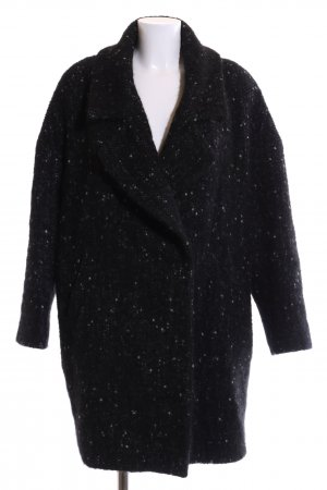 Palto Oversized Mantel schwarz meliert Casual-Look