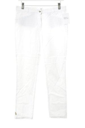 Pamela Henson Pantalon 7/8 blanc style décontracté