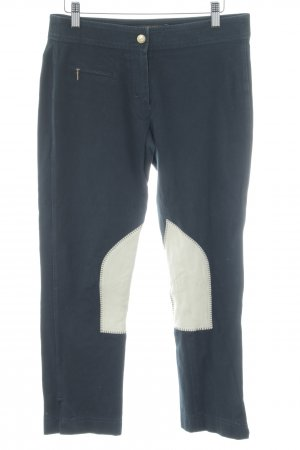 Pamela Henson Riding Trousers dark blue material mix look