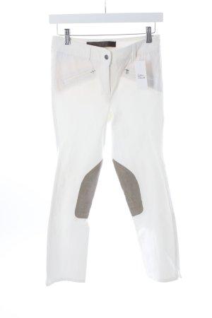 Pamela Henson Reiterhose weiß-beige sportlicher Stil