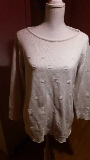 Jersey de lana blanco