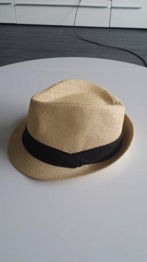 Cappello Panama beige-nero