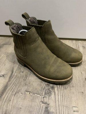 Panama jack Chelsea Boot gris vert cuir