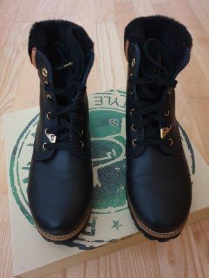 Panama jack Bottines à lacets noir cuir