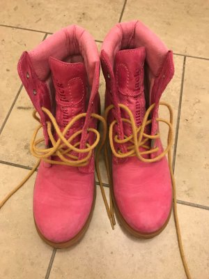 Panama jack Lace-up Boots raspberry-red leather