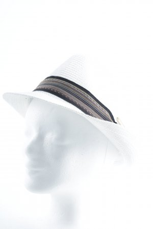 Panama Hat white weave pattern street-fashion look