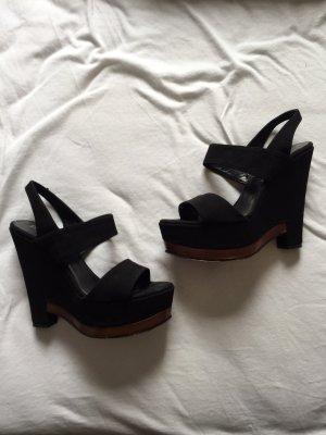 Panara Schuhe Wedges Keilabsatz 12cm hoch bequem Gr. 37,5 schwarz