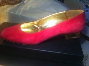 """Pancaldi""(Venezia) pink VeloursLeder Ballerina's, superschön Gr.38,"