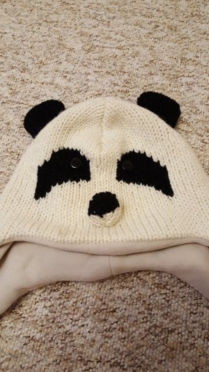Cappellino nero-bianco sporco