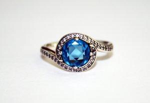 Pandora 190968NBS-50 Silber Ring Himmelblaue Schönheit - Gr. 50 [NEU]