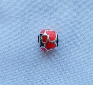 Pandora 790436ER rote u. orangene Emaille wenig getragen