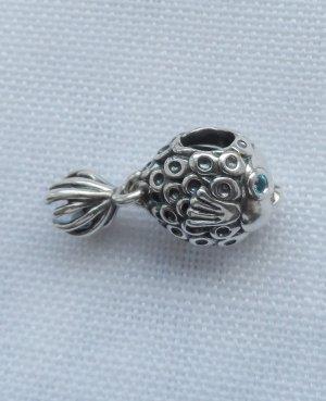 Pandora 791108TPP Kaiserfisch 925 Silber und behandelter paraibablauer Topas NEU