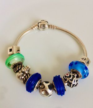 Pandora Armband, 18 cm mit 11 Beads