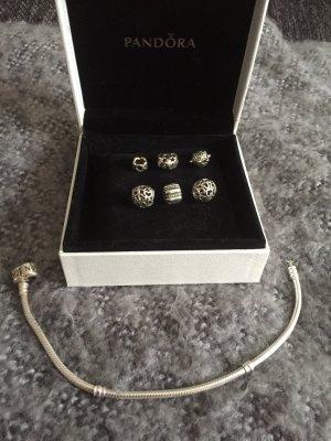 Pandora Bracelet à breloques gris clair argent