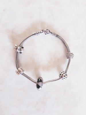 PANDORA Armband + Charms + Clips