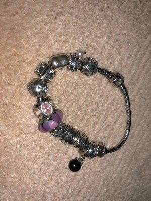 Pandora Armband mit Charms silber