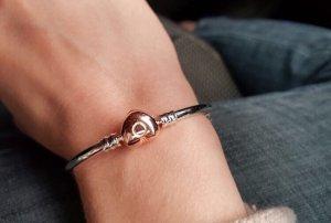 Pandora Armband mit Herzverschluss rosegold