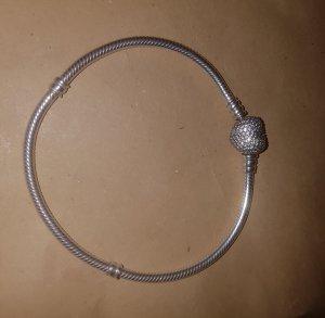 pandora armband mit pave herz verschluss