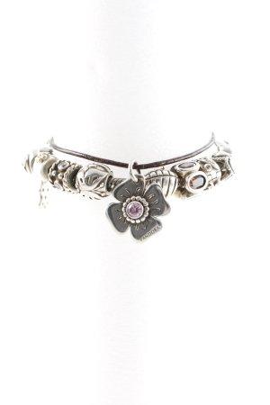Pandora Leather Bracelet silver-colored-black casual look