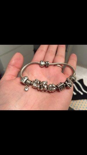 Pandora Armband Sterling Silber 925 9 Charms