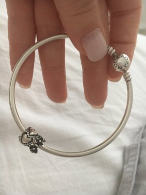 Pandora Bangle black-silver-colored