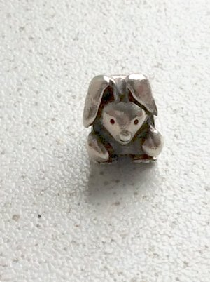 Pandora Charm silver-colored real silver
