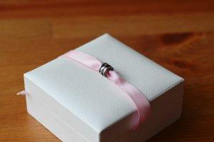 Pandora Charm Anhänger Clip Abstandhalter grau Glitzer Steinchen