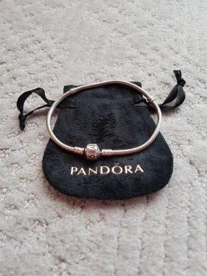 Pandora Brazalete de plata color plata plata verdadero
