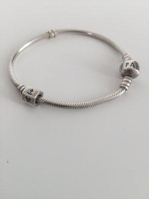 Pandora Charm Armband Silber wie neu! 18 cm lang Glaube Liebe Hoffnung