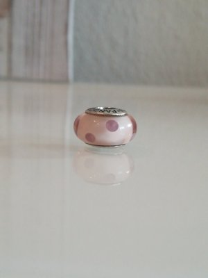 Pandora Charm aus Muranoglas rosa