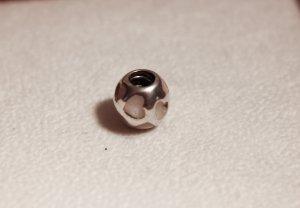 Pandora Charm Herzkugel mit weißem Perlmutt