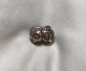 Pandora Charm silver-colored-gold-colored real silver