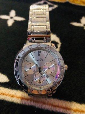 Pandora Damen Uhr in Farbe Silber Neu Zifferblatt gr 4,5 cm