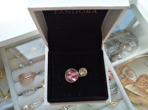 """Pandora Droplet Rings in """"rosé"""" und """"clear"""", Ringgröße 54"""