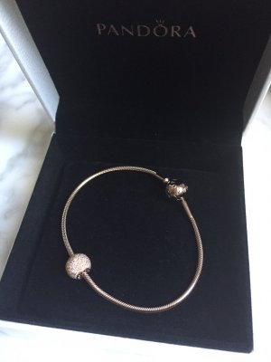 PANDORA Essence Armband Rosé Gold rosegold mit Happines-Charm - NEU!