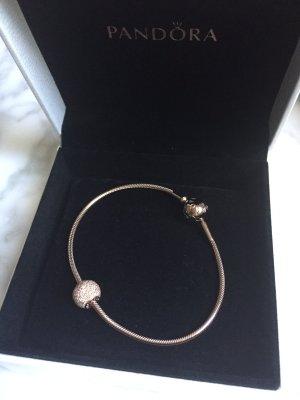 Pandora Braccialetto sottile rosa pallido Argento