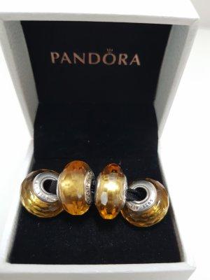 Pandora gelber Facetten Murano
