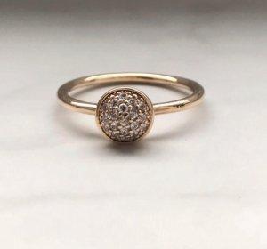 Pandora glänzendes Tröpfchen Ring Gr 52