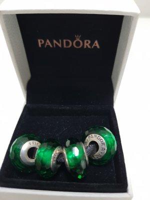 Pandora grüner Facetten Murano