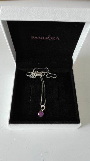 Pandora Halskette 925 silber lila Tröpfchen Kette Anhänger